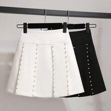 Faldas Direct Selling Top Lanon None Long Skirt Women Pleated Skirt Empire Waist Solid Above Knee Mini Length Spring 2019 цена и фото