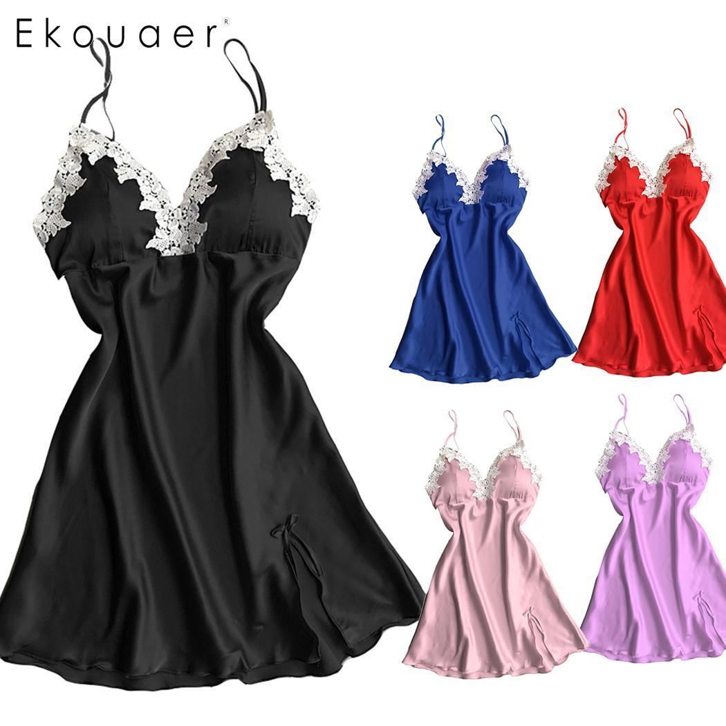 91ac1d067 Ekouaer Sexy Lingerie Nightgown Women Floral Patchwork Camisole Babydolls  Mini Nightdress Sleepwear Female Nighties Homewear Pakistan ...