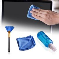 camera computer 3PCS LCD TV Screen Cleaning Kit For Desktop Computer Laptop Digital Camera Keyboard Cleaning Solution Cloth Brush Kits (3)