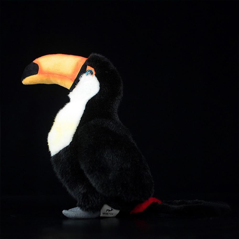 24 Cm Toucan Bird Stuffed Animal Simulation Soft. Kawaii Lifelike Dolls And Toys For Children And Hobbies