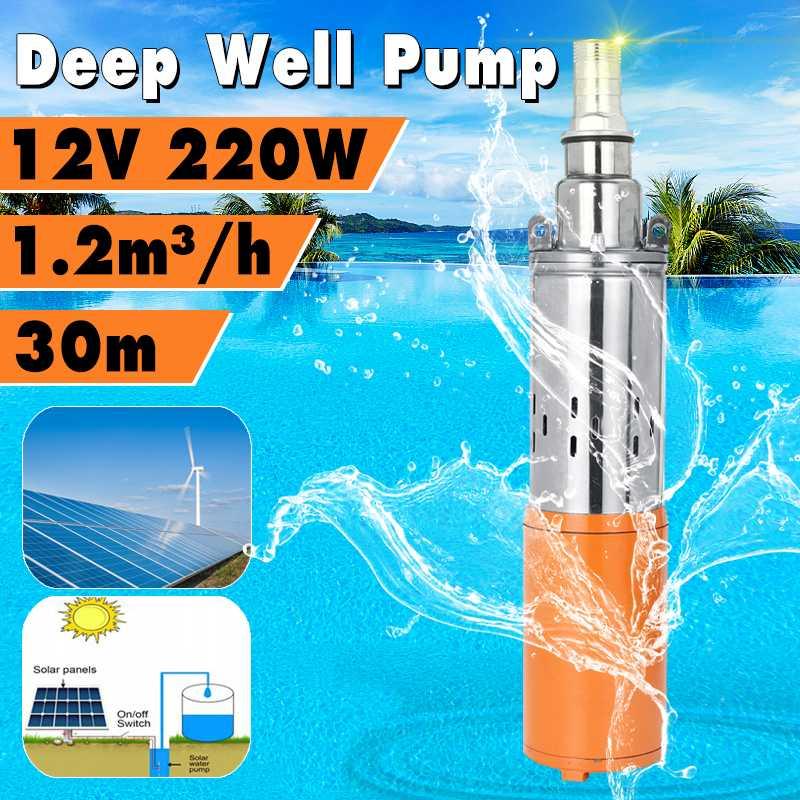 Heimwerker Wolike Fluss Lift 30 M 50 M Dc 12 V/24 V Tauch Solar Wasserpumpe Tiefbrunnen Pumpe Eingebaute Controller 220 W/260 W