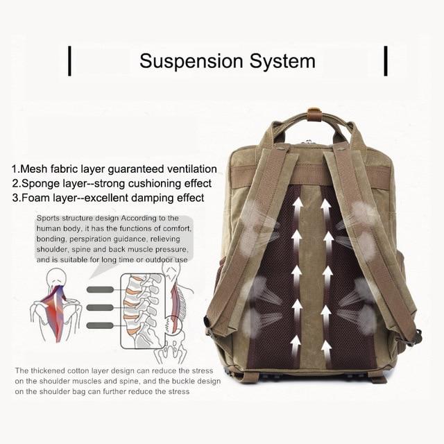 Camera Bag Batik Canvas Waterproof Photography Bag Outdoor Wear-resistant Large Camera Photo Lens Backpack for Canon/ Sony/Nikon 4