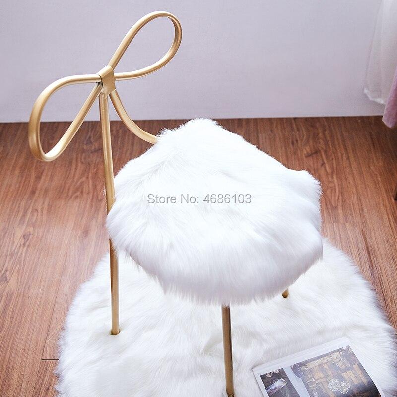 Chaise de coiffeuse Princes avec tapis tabouret papillon meubles de maison en fer meubles nordiques chaises chaises de luxe modernes