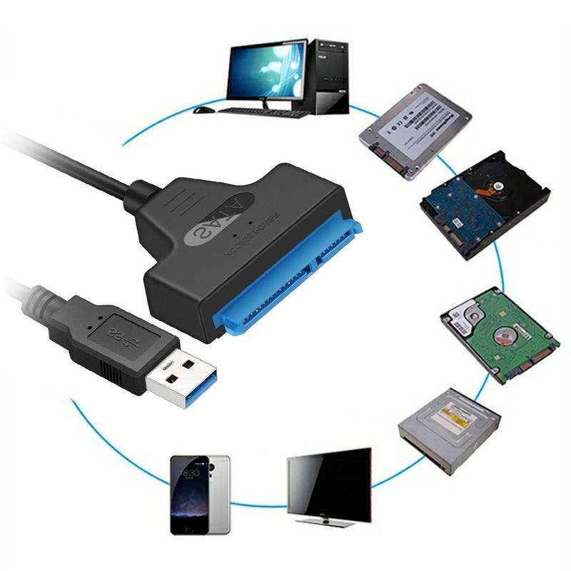"""Image 4 - 22 Pin SATA To USB 3.0 Cable Up To 6 Gbps 2.5"""" External SSD HDD Hard Drive Adapter Converter Install Computer Cable Connector-in Computer Cables & Connectors from Computer & Office"""
