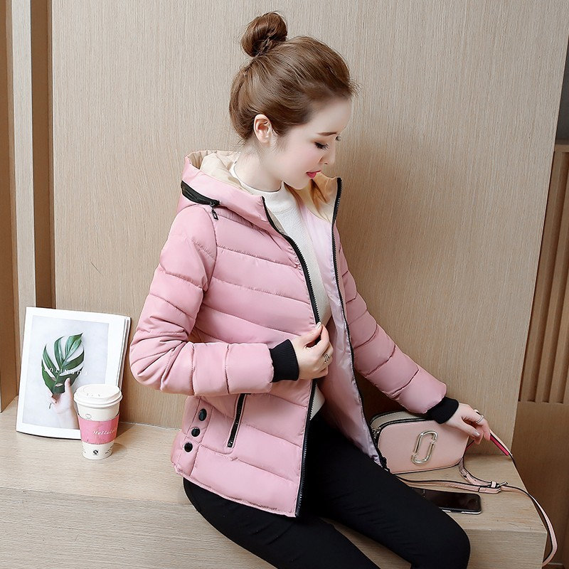 2018 new ladies fashion coat winter Clothing women outerwear short wadded jacket female padded   parka   women's overcoat L-3XL