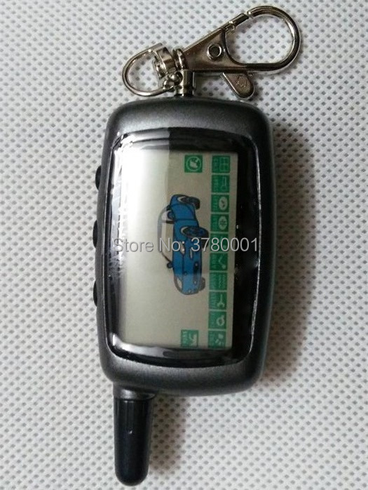 Russian A9 LCD Remote Control Keychain for Starline A9 Key chain Fob Twage Two Way Car Alarm System /also fits A6