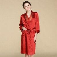 IANLAN сезон: весна лето для женщин Настоящее 100% шелковый халат 22 момме тяжелый вес шелковая ночная рубашка женские длинные пижамы с поясом