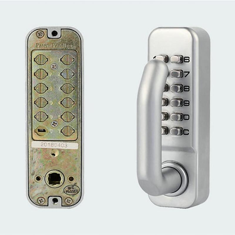Home Improvement Hardware Mechanical Digital Push Button Door Lock Keyless Keypad Combination Code Lock With Handle