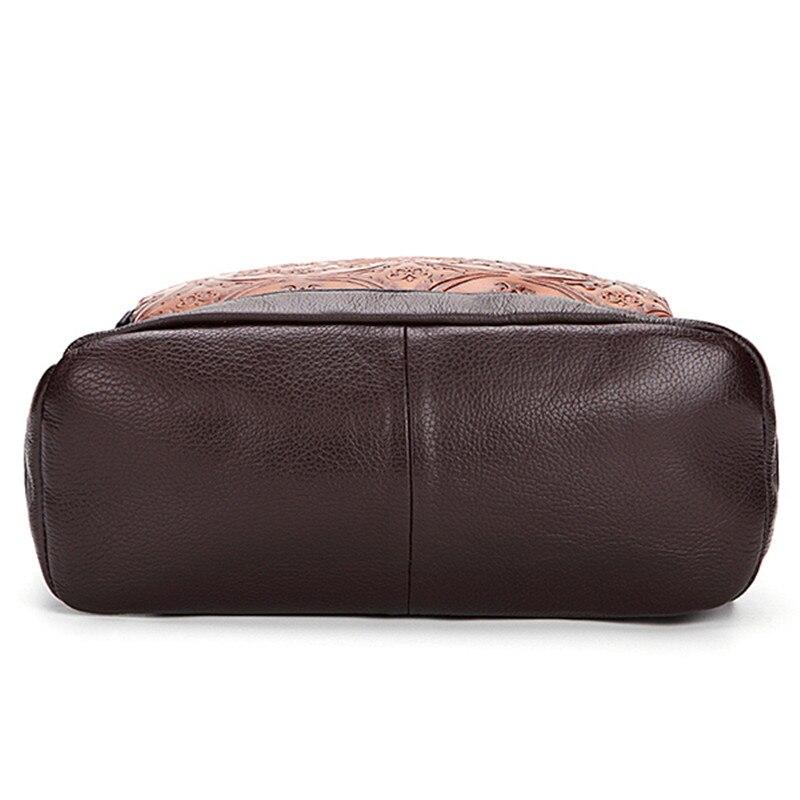 AEQUEEN sac à dos en cuir véritable pour femme sac à dos Vintage en cuir de vachette pour femme sac à dos pour femme-in Sacs à dos from Baggages et sacs    3