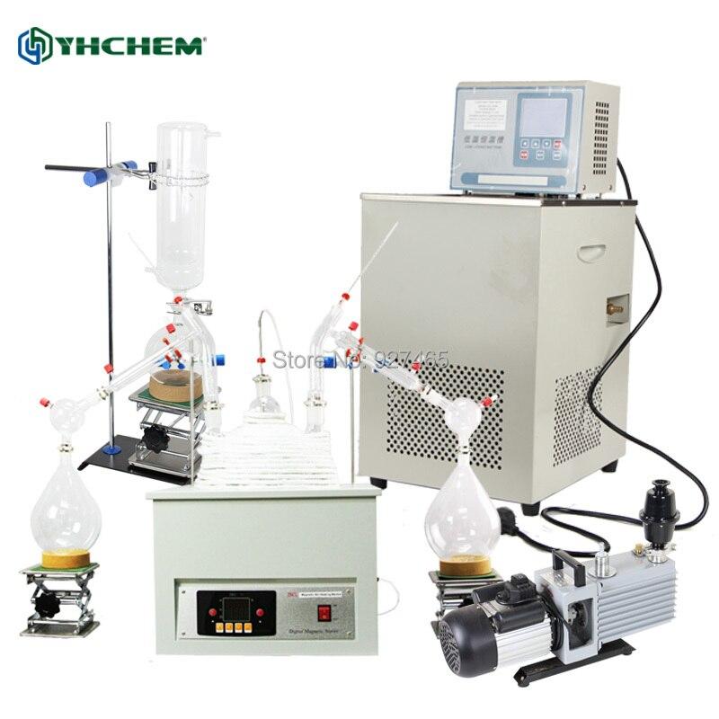 YHChem USA équipement de laboratoire 10000 mL/10L Kit de Distillation à courte distance 110 V/220 V avec thermomètre numérique/manteau chauffant/piège à froid