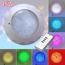 Underwater Swimming Pool Light Multi-Color 12V 45W RGB+Remote Controller Outdoor Lighting Waterproof Underwater Lamp(China)