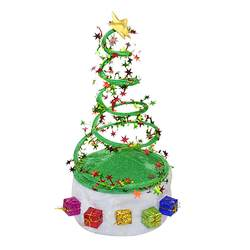 Смешные вечерние Рождественские елки шляпы для вечеринок рождественские шляпы с спиральной пружиной для рождественских праздников