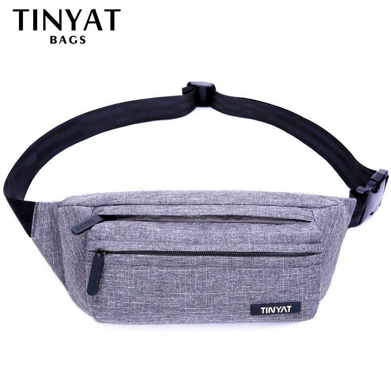 TINYAT Men Male Waist Bag Pack Grey Casual Functional belt bag Large Belt Pouch Phone Money Shoulder Belt bag Fanny Travel Hip men male casual functional canvas bag waist bag money phone belt bag pouch bum hip bag shoulder belt pack 2018