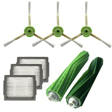 цена на Hepa Filter +Side Brush +Brush Roll For Irobot Roomba I7 E5 E6 I Series Robot Vacuum Cleaner Replacement Spare Parts