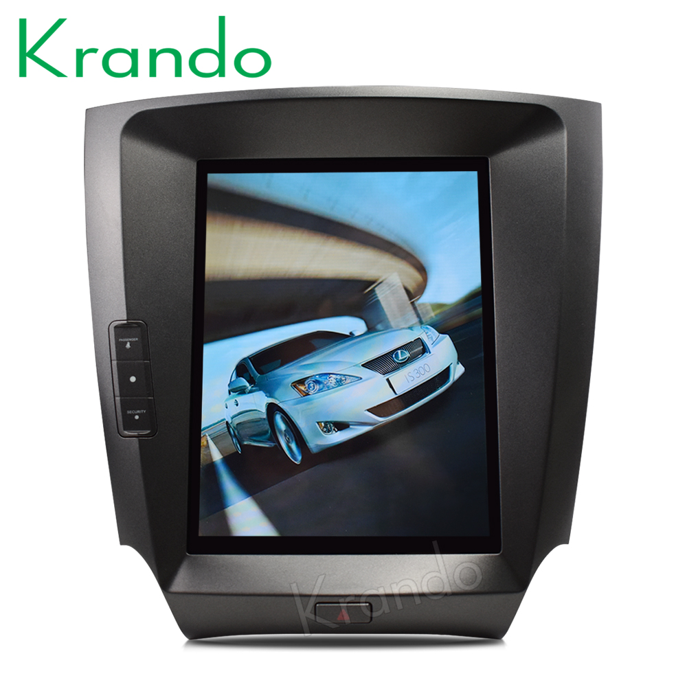 Krando Android 8 1 10 4 Tesla style Vertical screen car multimedia for Lexus is250 is300