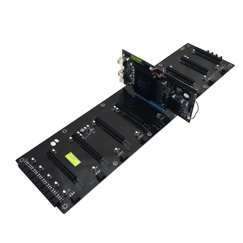 Jia Huayu BTC-HM65 carte minière mémoire DDR3 M.2 SSD SATA RJ45 prise en charge réseau HDMI HD sortie carte mère prise en charge 8 PCIE image voiture