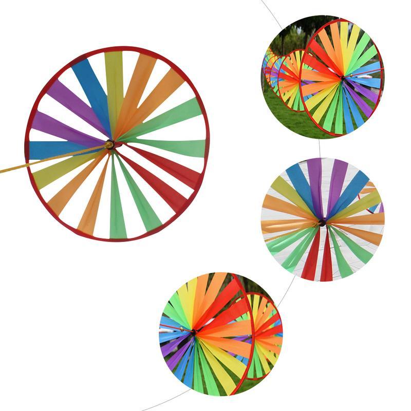 8 Stuks Kleurrijke Spinner Outdoor Kleuterschool Kinderen Speelgoed Windmolen String Tuin Wind Rotator Tuin Decoratie Bekwame Productie
