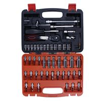 Hot 53 Piece/set Automotive Mechanics repair Tool Set with toolbox Case Car Motorcycle Home Repair Kit packing hand tool kit