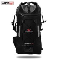 WOSAWE Waterproof Motorcycle Bag Motocross Backpack Motorbike Hand Bag 30L High Capacity Helmet bag with Air Hole Compressible