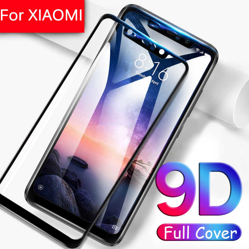 9D  Full Cover for Xiaomi mi a2 8 lite a1 5x 6x mi8 mia2 Light mia1 Tempered Glass Film Pocophone f1 Full Sklo Protective Glas