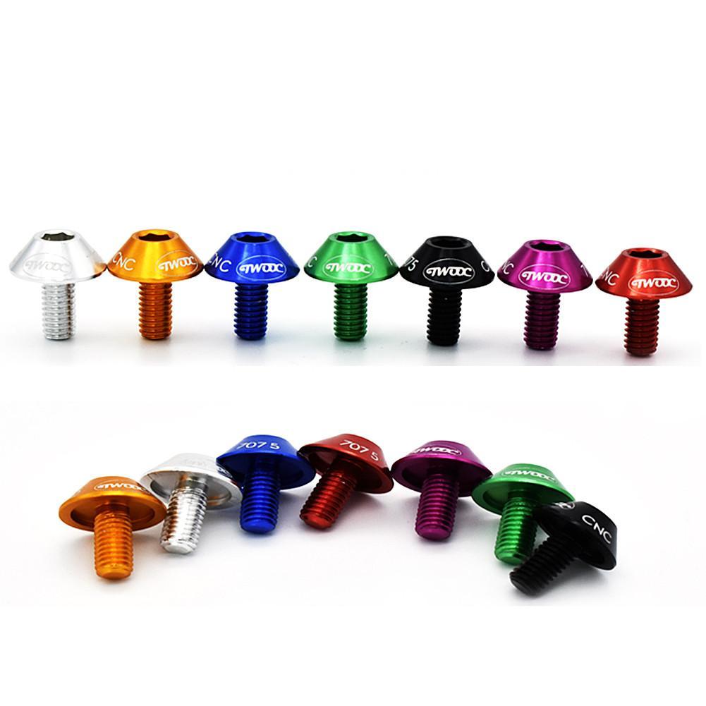 2 шт. велосипедный держатель для бутылки с водой крепежные болты из алюминиевого сплава с шестигранной головкой резьбовой винт для велосипедной бутылки
