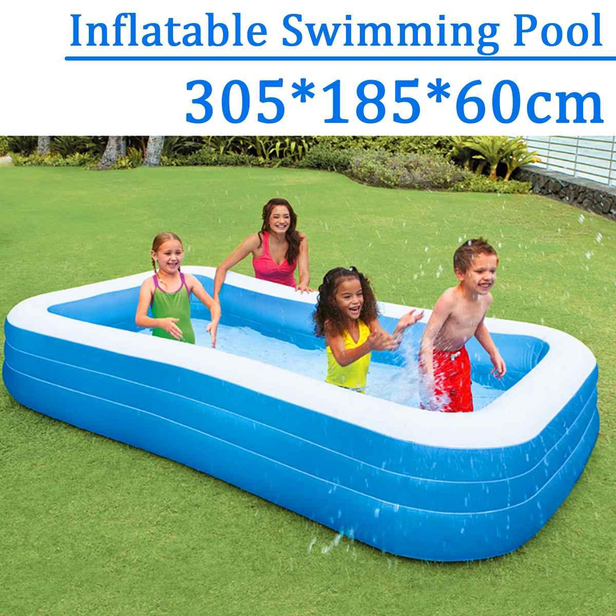 305x185x60 см детский дом применение детский бассейн большой размеры надувные квадратный бассейн сохранение тепла детский надувной бассейн