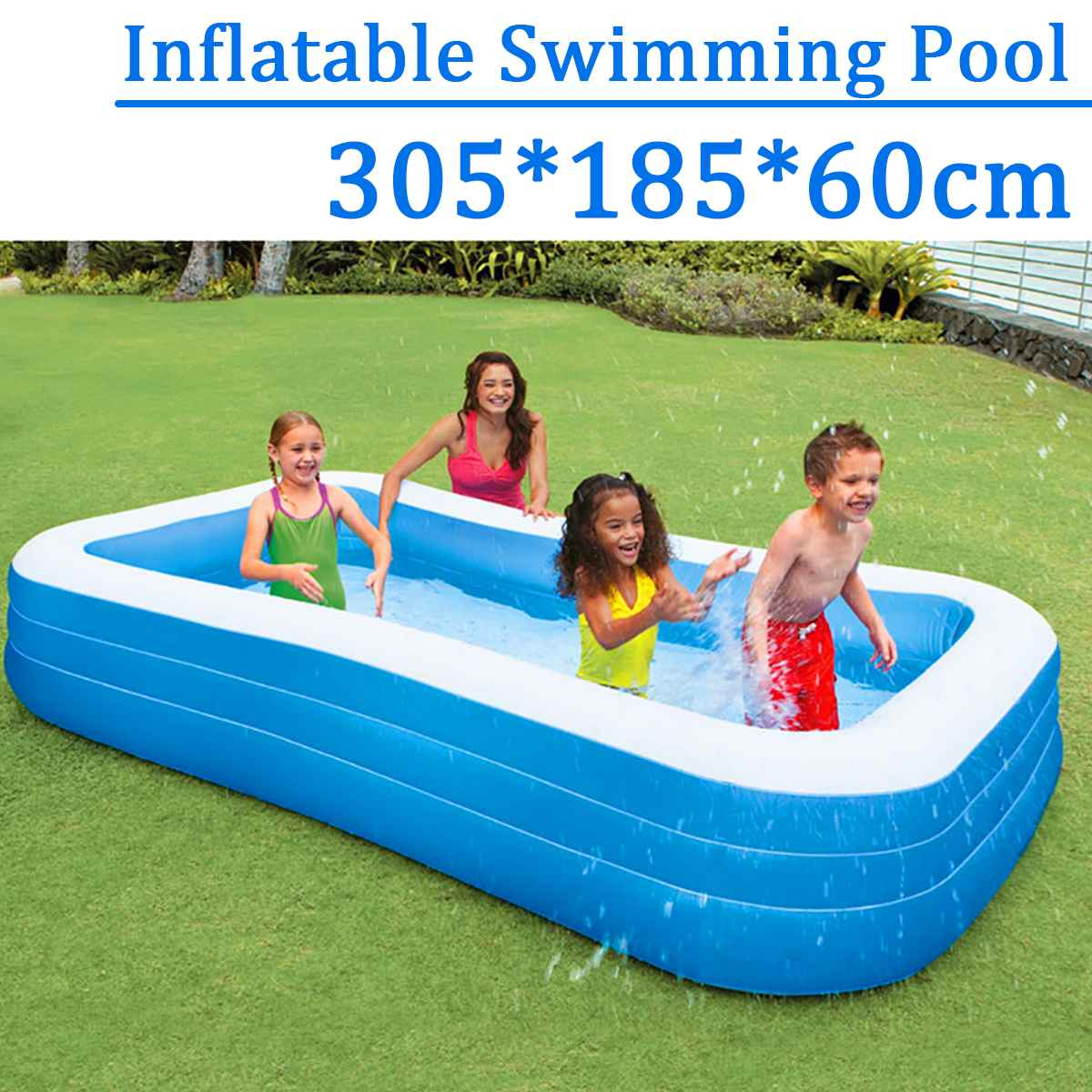 305x185x60cm Childrens Home Use Paddling Pool Large Size Inflatable Square Swimming Pool Heat Preservation Kids inflatable Pool305x185x60cm Childrens Home Use Paddling Pool Large Size Inflatable Square Swimming Pool Heat Preservation Kids inflatable Pool
