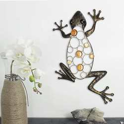 Frog iron crafts house wall Hanging animal wall garden landscape garden decoration home decoration accessories House statue