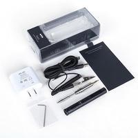 TS80 мини Электрический паяльник станция Портативный Организатор сумка комплект Регулируемый температура цифровой OLED дисплей Тип usb
