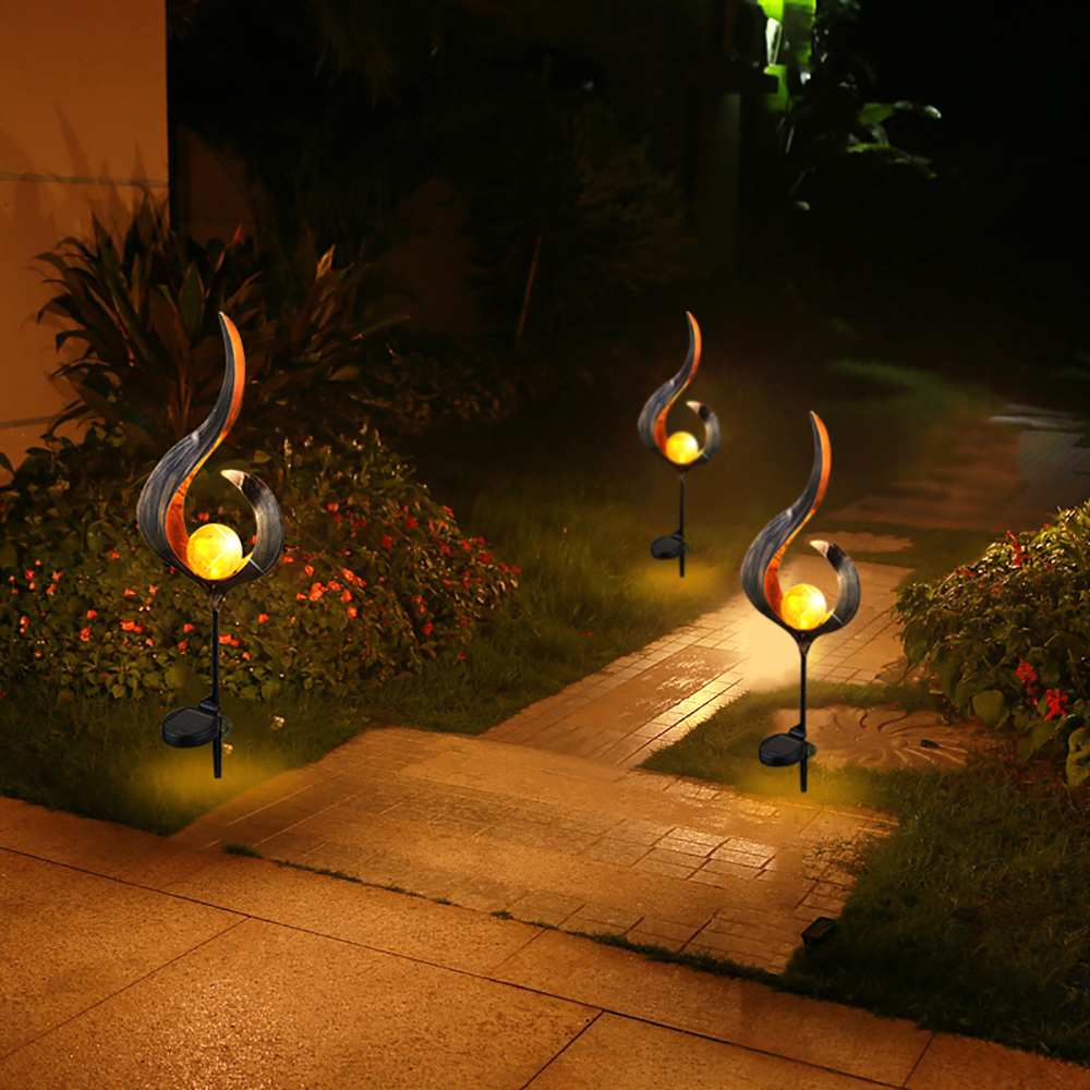 Newest Soalr Flame Light Solar Powered Metal LED Garden Light Outdoor Flame Effect Feature Lawn Ornament Warm white lightNewest Soalr Flame Light Solar Powered Metal LED Garden Light Outdoor Flame Effect Feature Lawn Ornament Warm white light