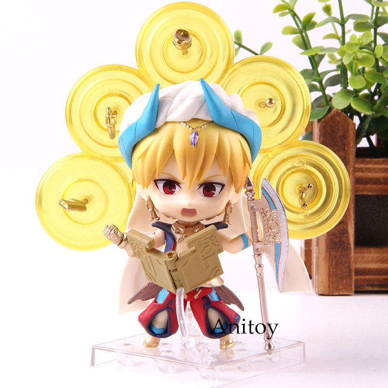 Anime FGO Fate Grand Order Gilgamesh Cute 990 Version PVC Action Figure Collection Model Toys 9cm