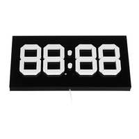 NEW 3D LED Digital Wall Alarm Clock WIFI Remote Control 14 Inch Calendar Night light For Home Living Room Office