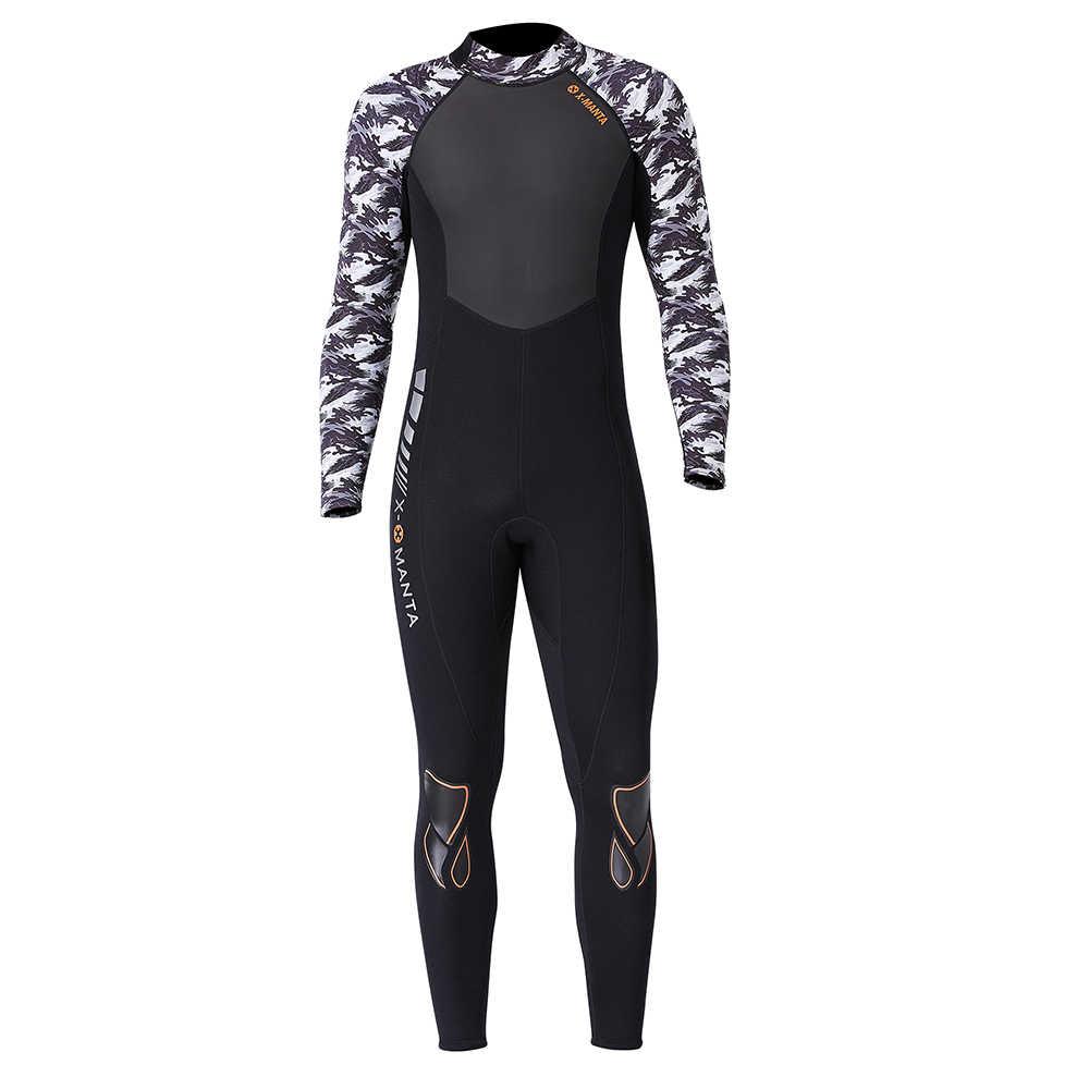 1.5 Mm/3 Mm UV Pelindung Pendek/Lengan Panjang Wetsuit Pria Diving Termal Neoprene Snorkeling Renang scuba Diving