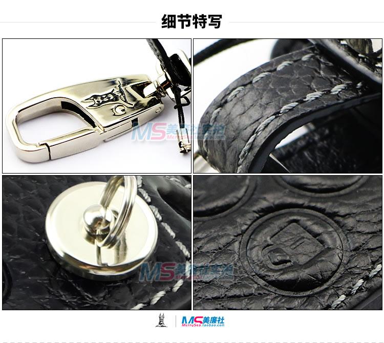 Cuero genuino cubierta de la llave del coche para Honda CR-Z ACCORD - Accesorios de interior de coche - foto 6