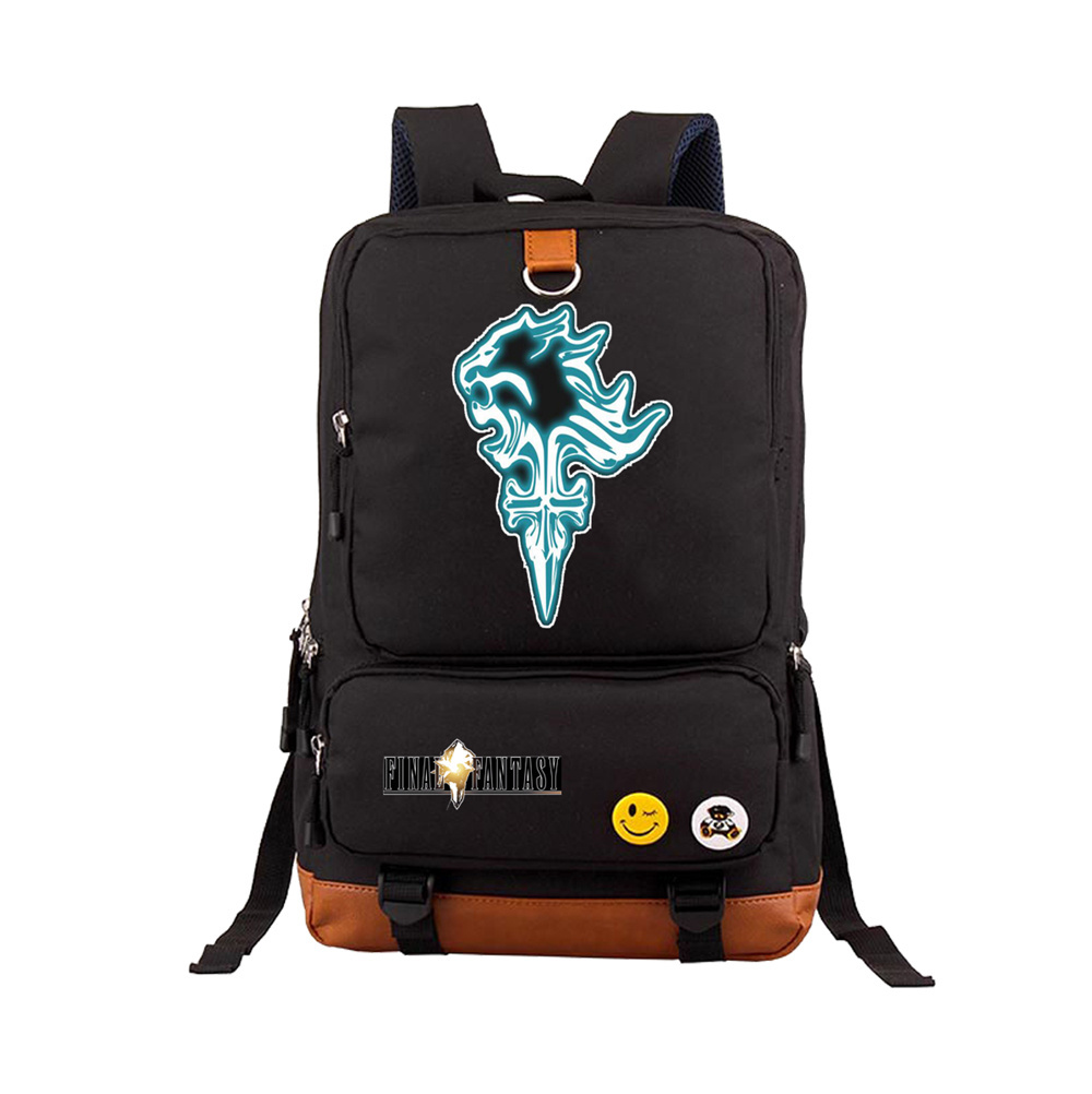 Game Final Fantasy backpack Chocobo cute printing backpack student school bag durable game FF fans backpack Printed Rucksack image