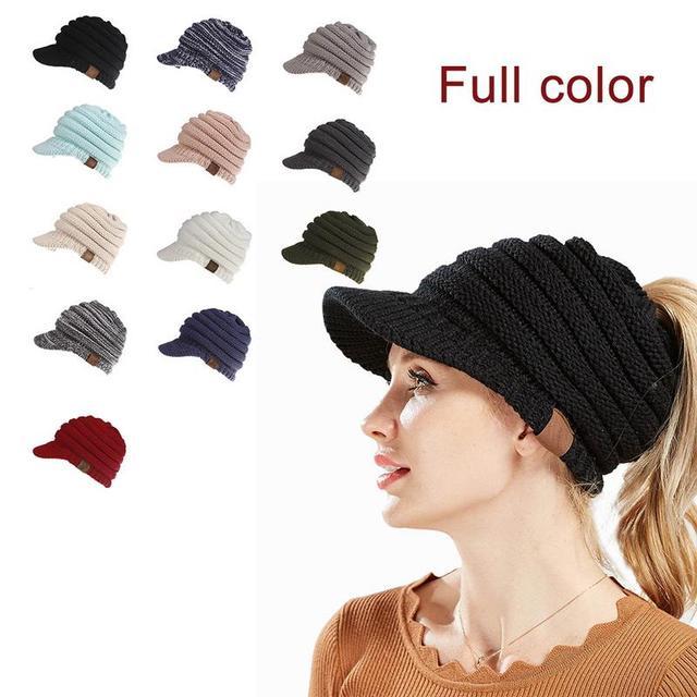 1866ad7b66c36 Winter Brand Female Ball Cap Pom Poms Winter Hat For Women Girl  S Hat  Knitted Beanies Cap Hat Thick Women S Skullies Beanies