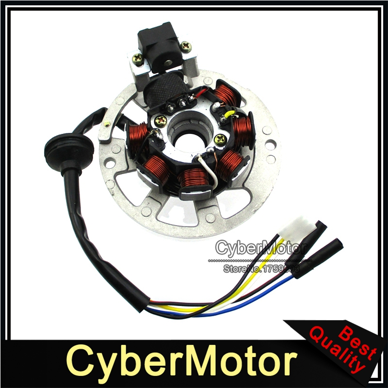 Image 3 - 5 Wires 7 Coils Ignition Magneto Stator For 2 Stroke Yamaha JOG Minarelli 50 50cc 90 90cc Scooter Alpha Sports ATV 1PE40QMB-in Motorbike Ingition from Automobiles & Motorcycles