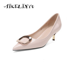 AIKELINYU Women Pumps Fashion Pointed Toe Genuine Leather Stiletto High Heels Shoes Spring Summer Office Shoes Woman Party Pumps fedonas new high heels women pumps brand spring summer fashion ladies genuine leather shoes woman ankle strap pointed toe pumps