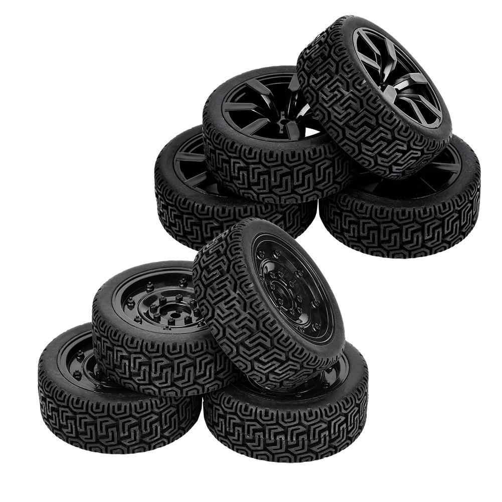 4pcs Tire Wheel Rim Rubber for FY 1/16 Climbing WPL C14 C2 Crawler