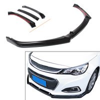 3Pcs Auto Car ABS Front Bumper Lip Spoiler Glossy Black For Chevrolet Malibu 2012 2013 2014 2015 2016 2017 2018