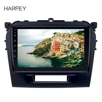 Harfey 9 inch HD Touchscreen Android 9.1 for SUZUKI VITARA 2015 2016 Radio Bluetooth GPS Navigation Car stereo with OBD2 WIFISWC image