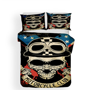 Image 2 - Bedding Set 3D Printed Duvet Cover Bed Set skull Home Textiles for Adults Lifelike Bedclothes with Pillowcase #KL02