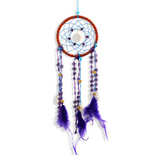 Wind Chimes Handmade Indian Dream Catcher Net With Feathers Wall Hanging Dreamcatcher Craft Gift Home Decoration decor for car цена 2017