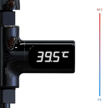 Digital LED Display Water Faucet Cartridges With Thermometer Self Generating Electricity Flow Monitor Shower