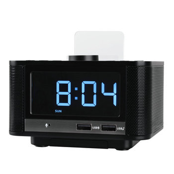 Alarm Clock Radio,Wireless Bluetooth Speaker,Digital Alarm Clock For Bedroom With Fm Radio/Usb Charging Port/Aux-In And Cell P