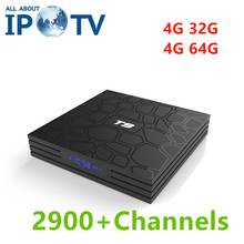 T9 Android 8.1 Tv Box France USA UK Italy Germany Sweden Spain Poland Greece Czech Scandinavian Bulgarian IPTV Set Top Tv Box(China)