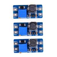 3Pcs Eingang 2 V-24 V Dc-Dc 5 V/9 V/12 V/ 28V Boost Konverter Einstellbare Step Up Netzteil Pcc Bord Moudle unterstützt Micro-usb-eingang