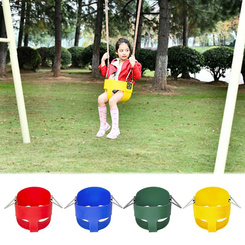 Set Swings Seat EVA Plastic Heavy Duty High Back Full Bucket Toddler Swing Seat with Coated Swing Chains  Swing Set 40p Outdoor Tools     -