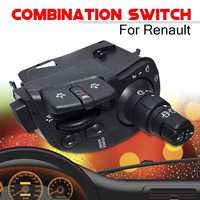 8201590631 Wiper Radio Steering Column Combination Car Switch For Renault Clio Kangoo Modus Auto Replacement Switches Parts