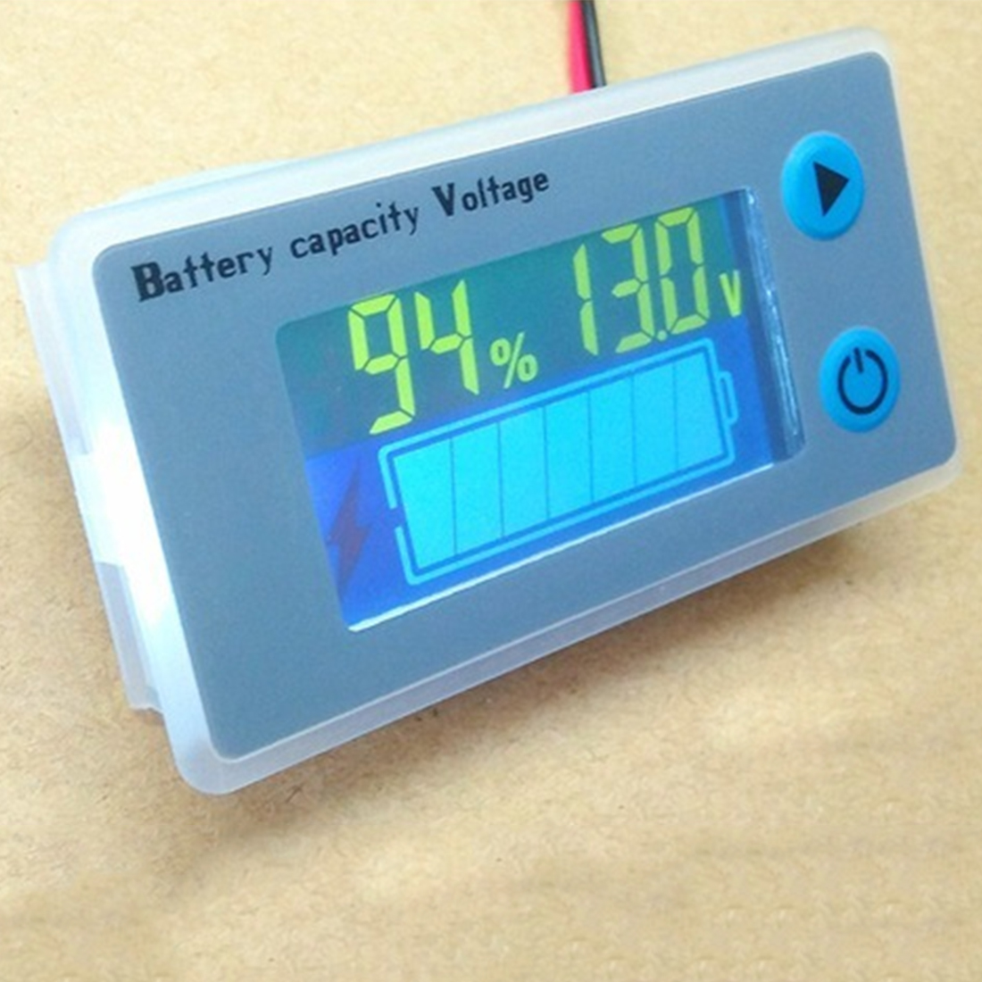 Digital Voltmeter Voltage Tester Monitor Universal LCD Car Acid Lead Lithium Battery Capacity Indicator JS-C33 10-100V